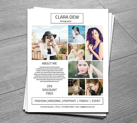 Photography flyer template marketing template for photographer free online lesson plan photography flyer template marketing template by templatestock maxwellsz
