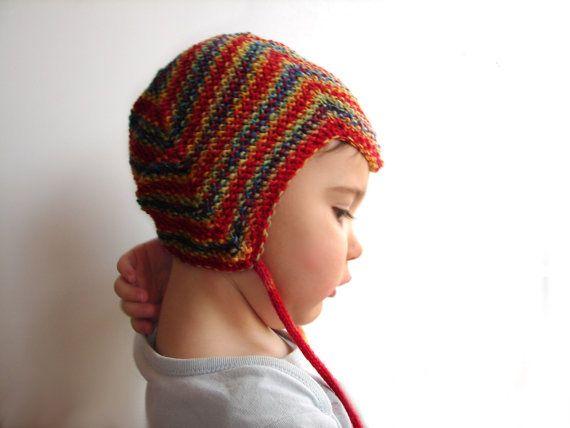 Slouchy Sock HatWool Sock HatGrey and Red Sock Hat