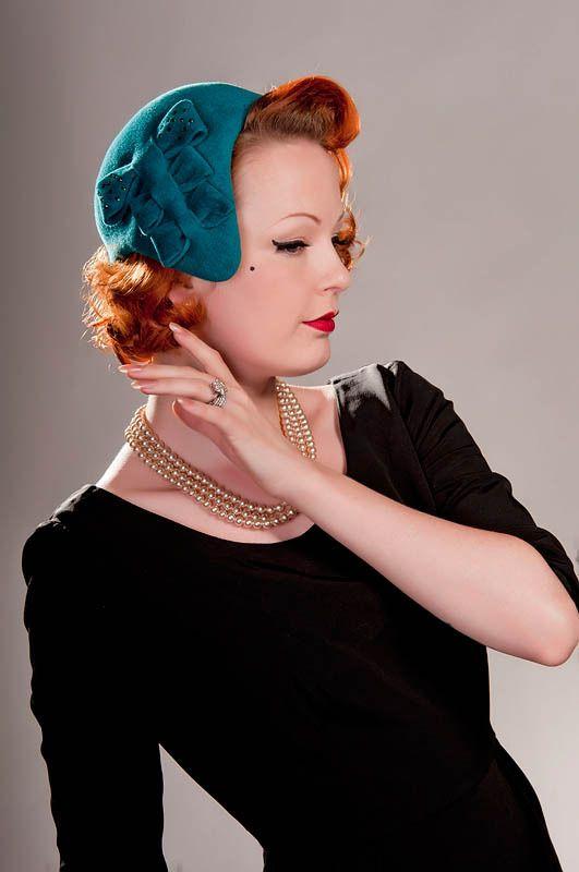 1940 s Style Half Hat by Rose Patricia Millinery  de48a8d63c1