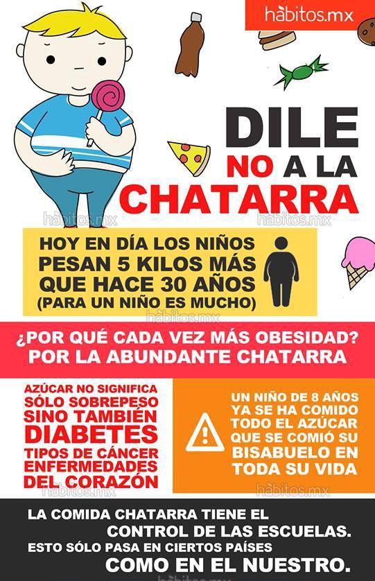 !Dile #no a la #chatara! #niños #obesidad #azúcar #