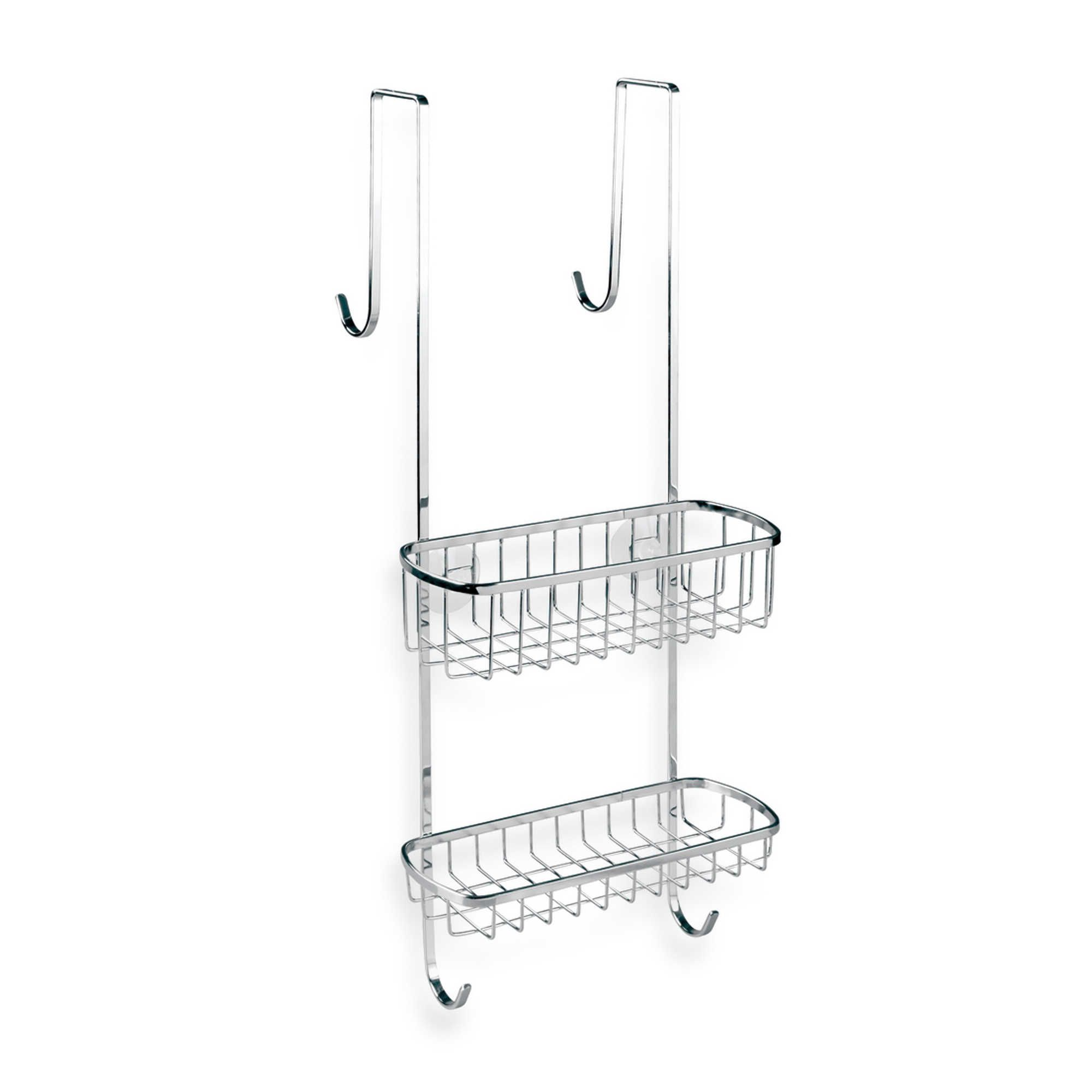 InterDesign Gia Over-the-Shower-Door Shower Caddy in Chrome Finish ...
