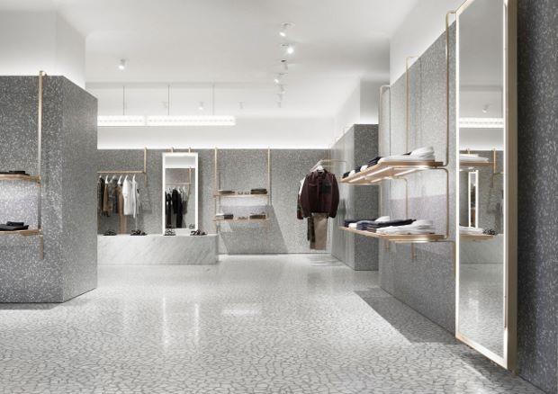 White Terrazzo Quartz With Mirror Interiors