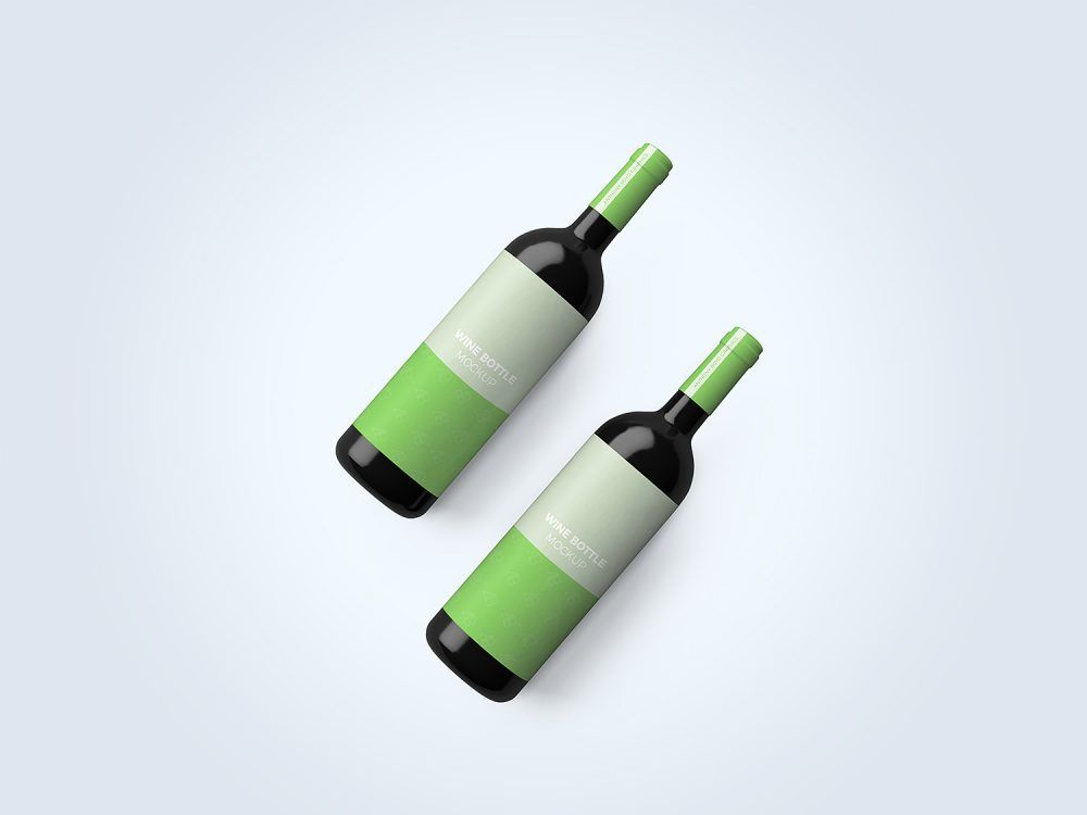 Free Wine Bottle Top View Mockup Free Mockup Wine Bottle Bottle Top Free Wine