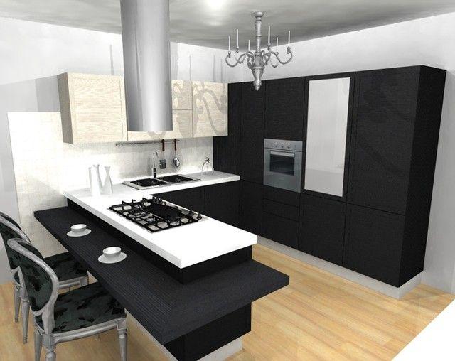 Dise o moderno en cocina con isla cocina pinterest - Cocinas diseno moderno ...