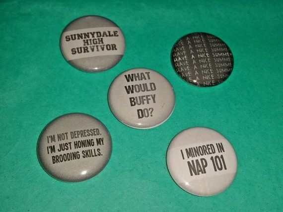 Buffy the Vampire Slayer-Inspired 1-inch by SteampunkPomegranate