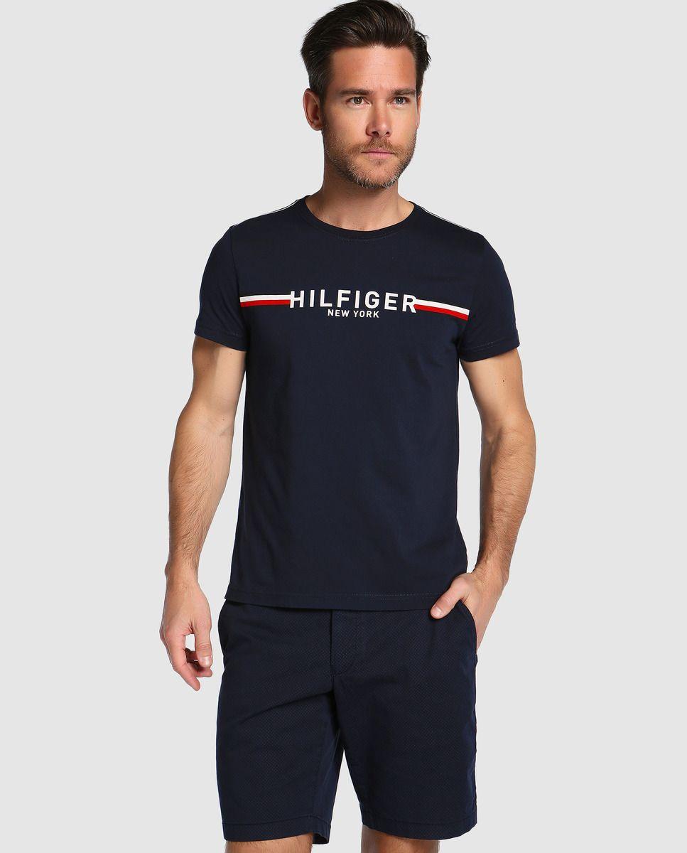 47bbb00ca8b Camiseta de hombre Tommy Hilfiger azul de manga corta · Tommy Hilfiger ·  Moda · El