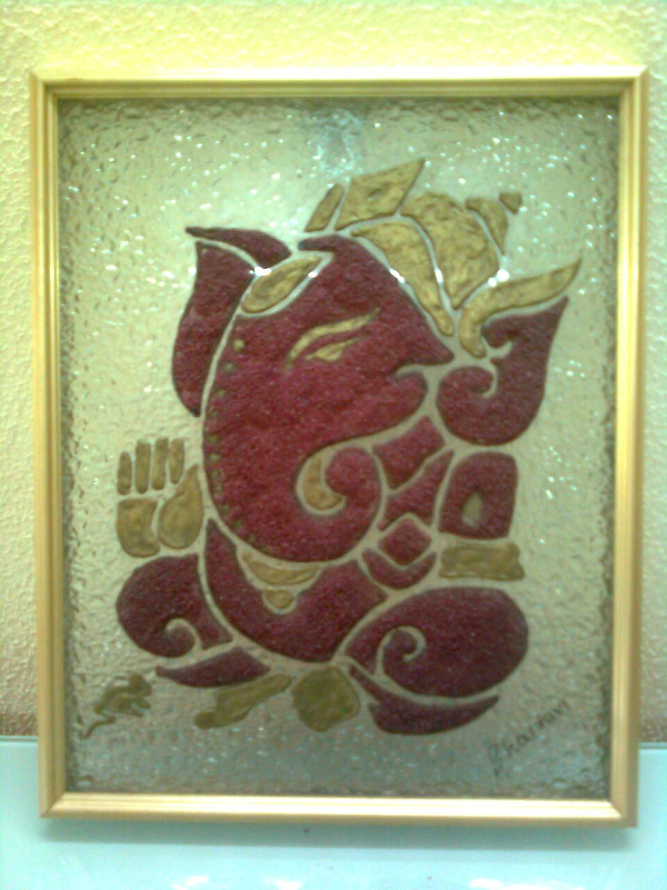 Sand Painting Of Lord Ganesha Painting Photography And