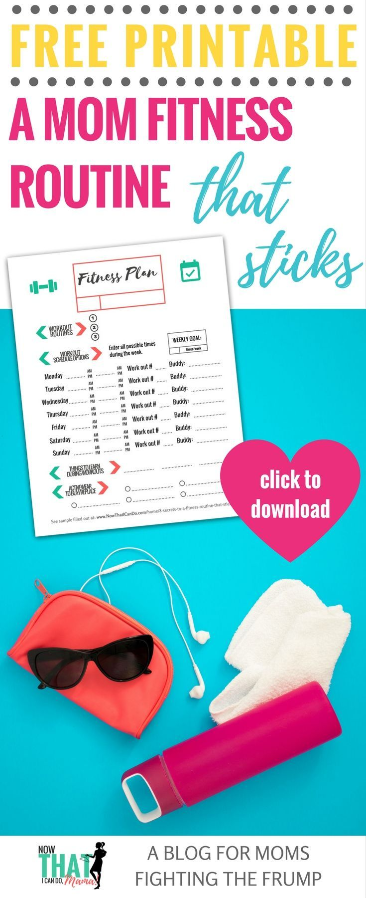 8 Secrets to a Fitness Routine that Sticks (+ printable fitness plan ...