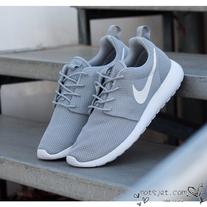 new concept 967ec c4c30 Nike Roshe Run Grey White 2015 Womens Mens - Best Seller Chaussures De  Course, Chaussures