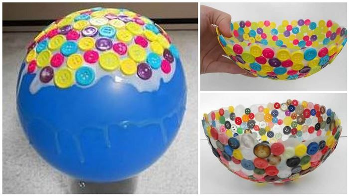 Nothing Cuter Than Eating Out Of A Homemade Bowl Made Buttons 3What Youll NeedFlat Any ColorBalloonsWhite Glue That Dries ClearLarge Paint