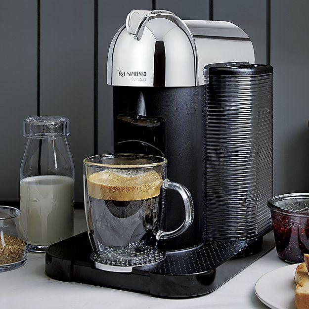 Nespresso By Breville Vertuoline Chrome Coffee Espresso Maker Reviews Crate And Barrel Coffee And Espresso Maker Nespresso Coffee