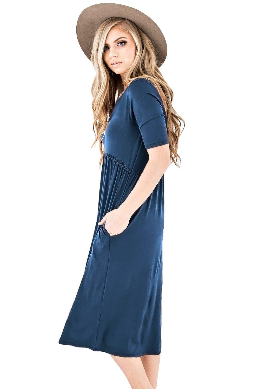 Blue Half Sleeve Jersey Knit Midi Dress Knit Midi Dress Jersey Knit Midi Dress Jersey Knit Dress [ 1500 x 1001 Pixel ]