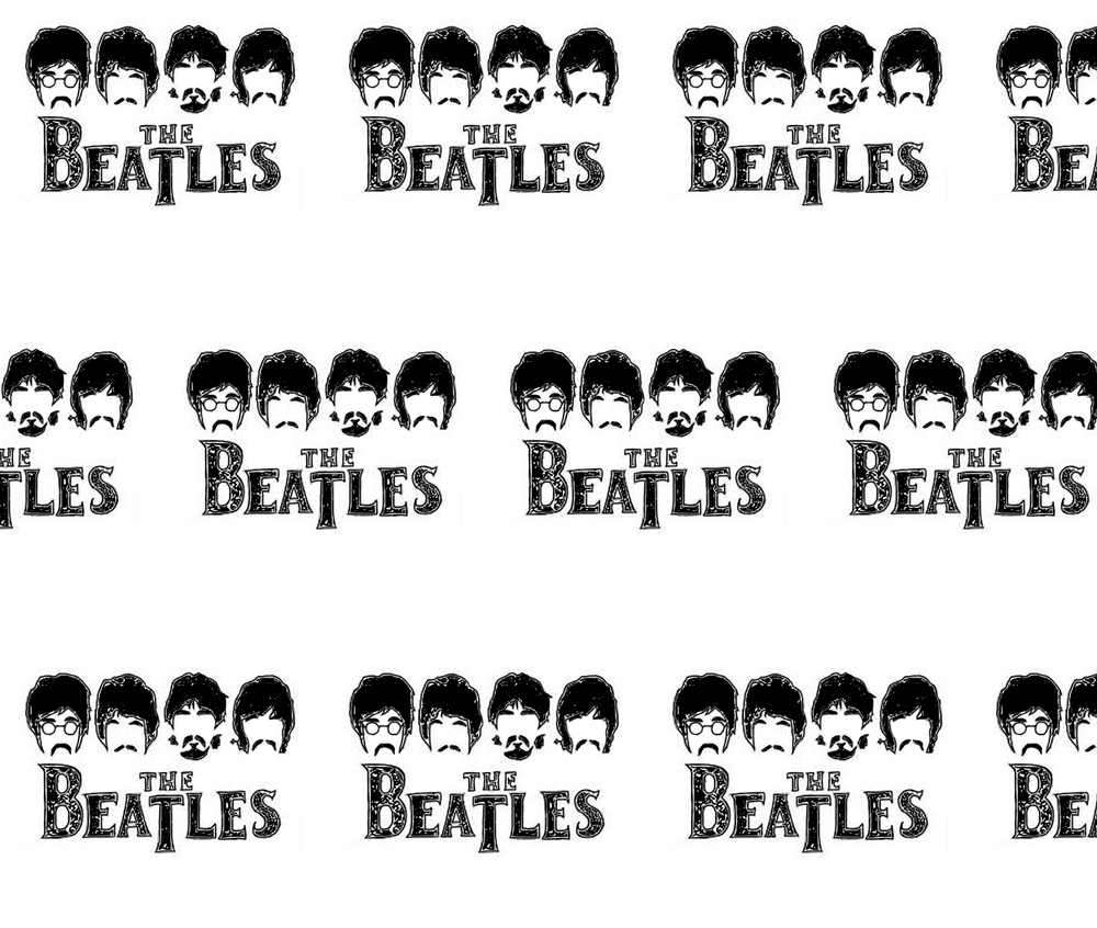 Outline The Beatles John Lennon Paul Mccartney Fabric Printed By Spoonflower Bty Beatles Quilt Printing On Fabric The Beatles