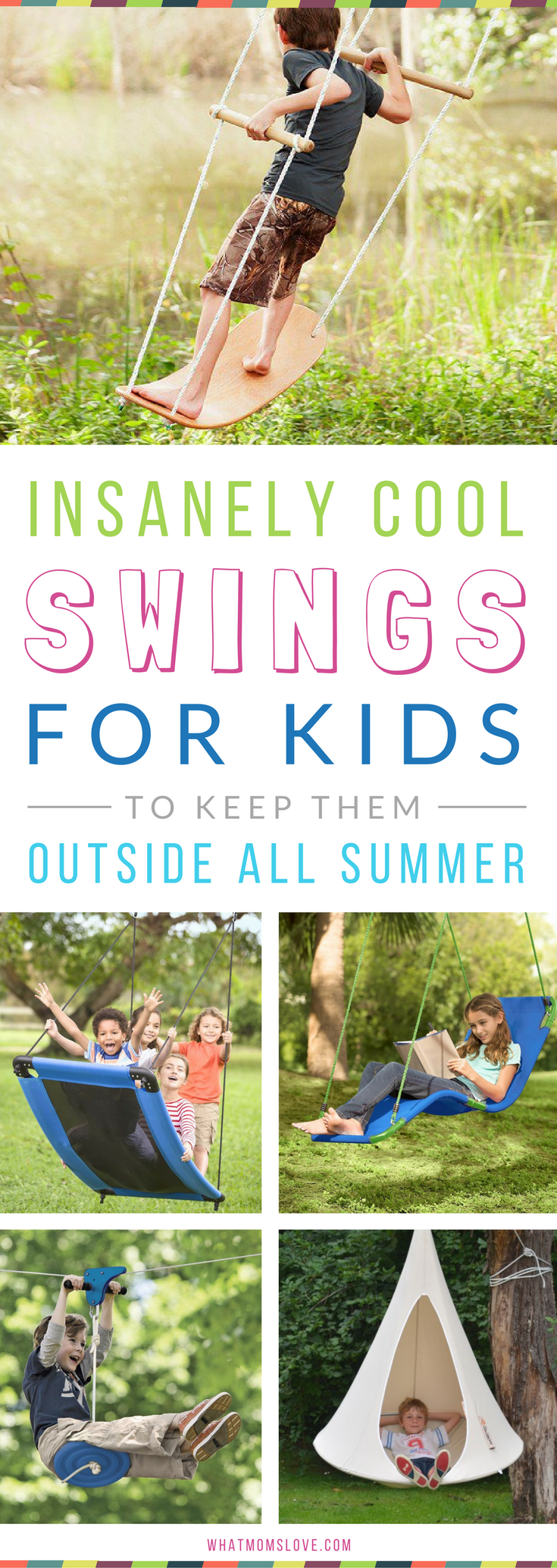 8 Outrageously Cool Swings HideOuts That Will Keep Your Kids – Fun Backyard Ideas for Kids