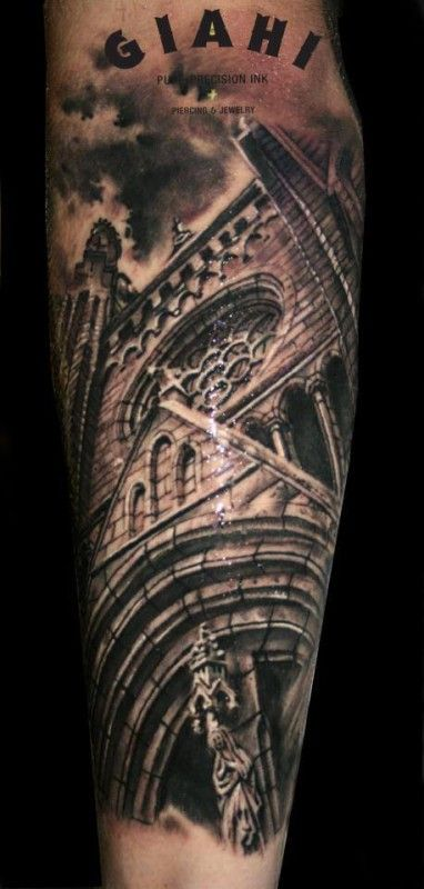 12 artistic church and cathedral tattoos tattoo reference pinterest church tattoo tattoo. Black Bedroom Furniture Sets. Home Design Ideas