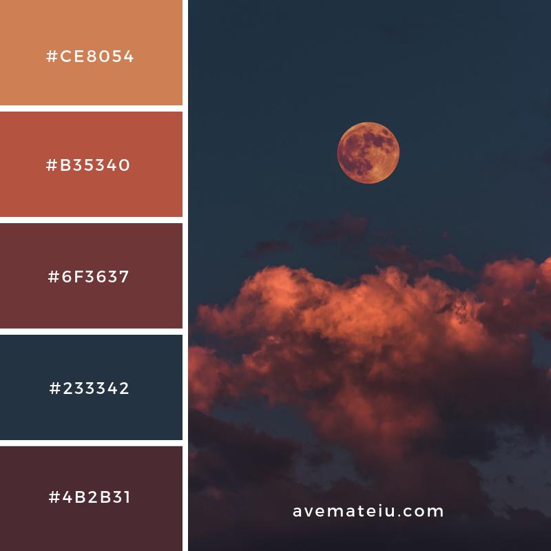 Bloody Moon Color Palette 55 Colors 23 Color Dark Color