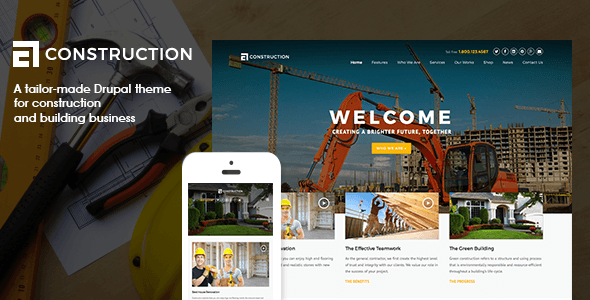 Construction Drupal 7 Template Stylelib In 2020 Drupal Building Companies Business Architecture