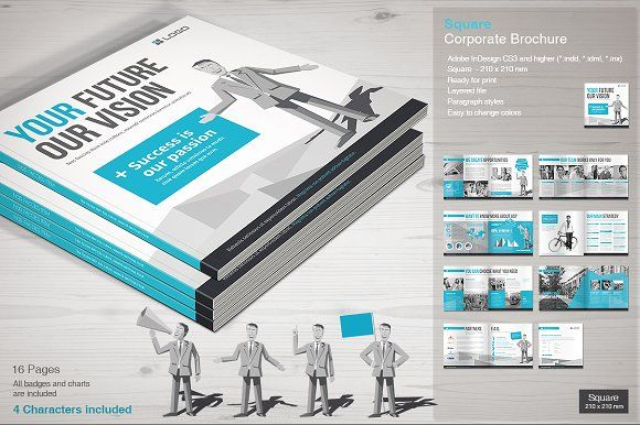 Corporate Brochure By MrTemplater On Creativemarket Free Brochure - Brochure template maker