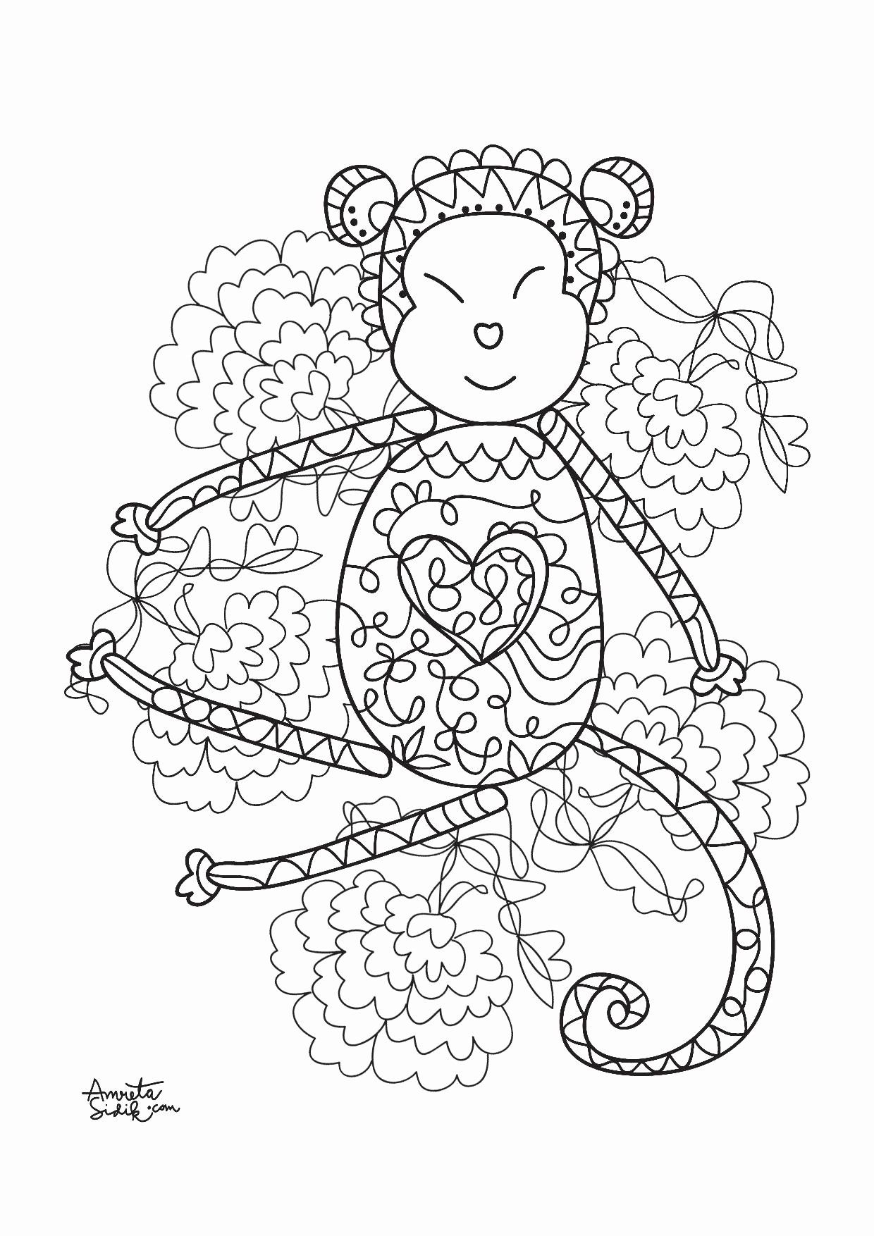 Coloring Pages On Monkeys Best Of Monkey Coloring Pages ...