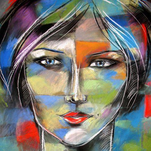 KATARZYNA RADZKA - Roxanne - rysunek pastelami suchymi