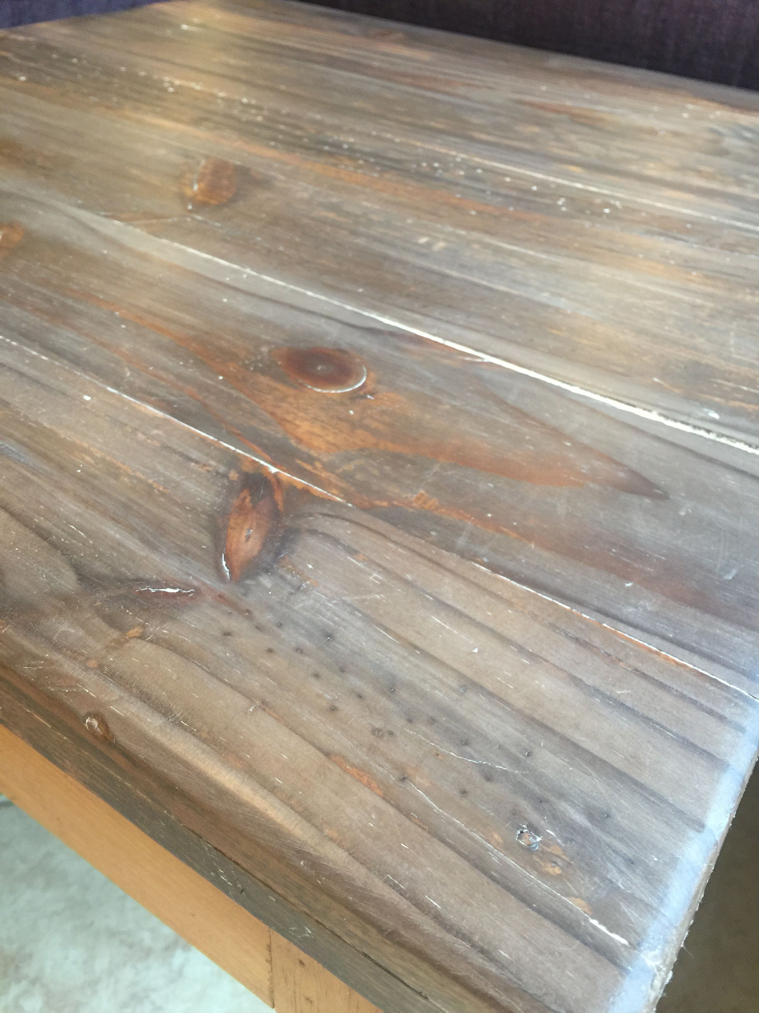 My Diy Liming Wax Cerused Pine Did This On A Raw Table