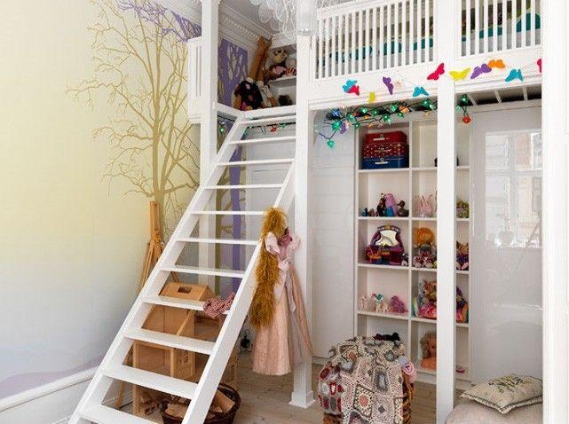 Des chambres id ales pour des petites surfaces mezzanine chambre enfant et - Amenagement mezzanine chambre ...