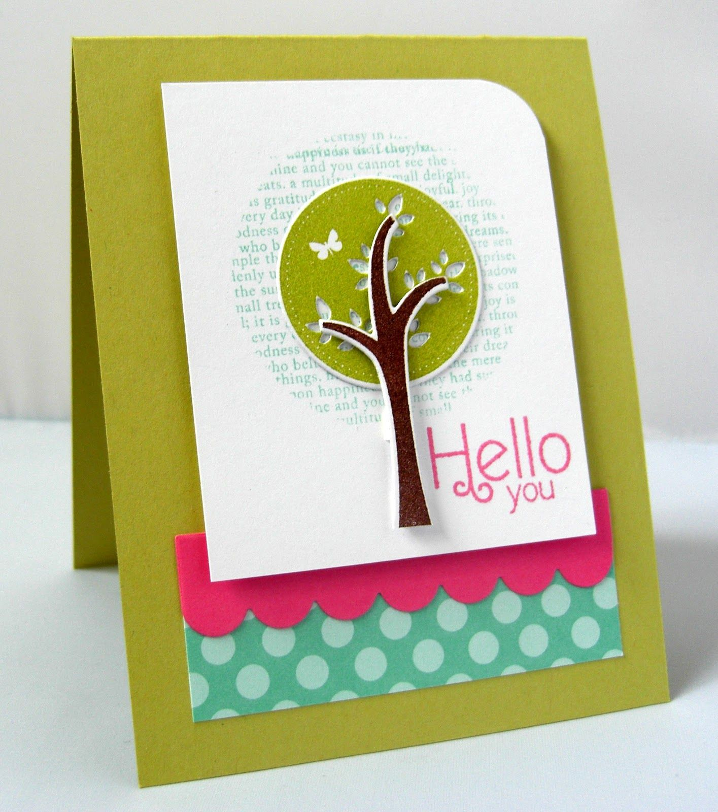 hello you- Stamping & Sharing