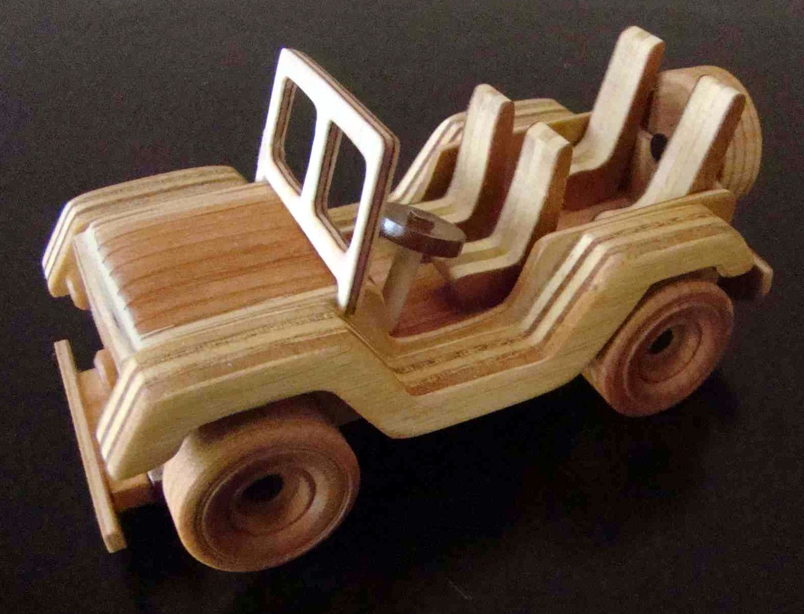 Jeep car toys  Handmade Wooden Toy Jeep odinstoyfactoy handmade handcrafted
