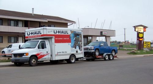 U Haul Truck With Auto Transport With Images U Haul Truck