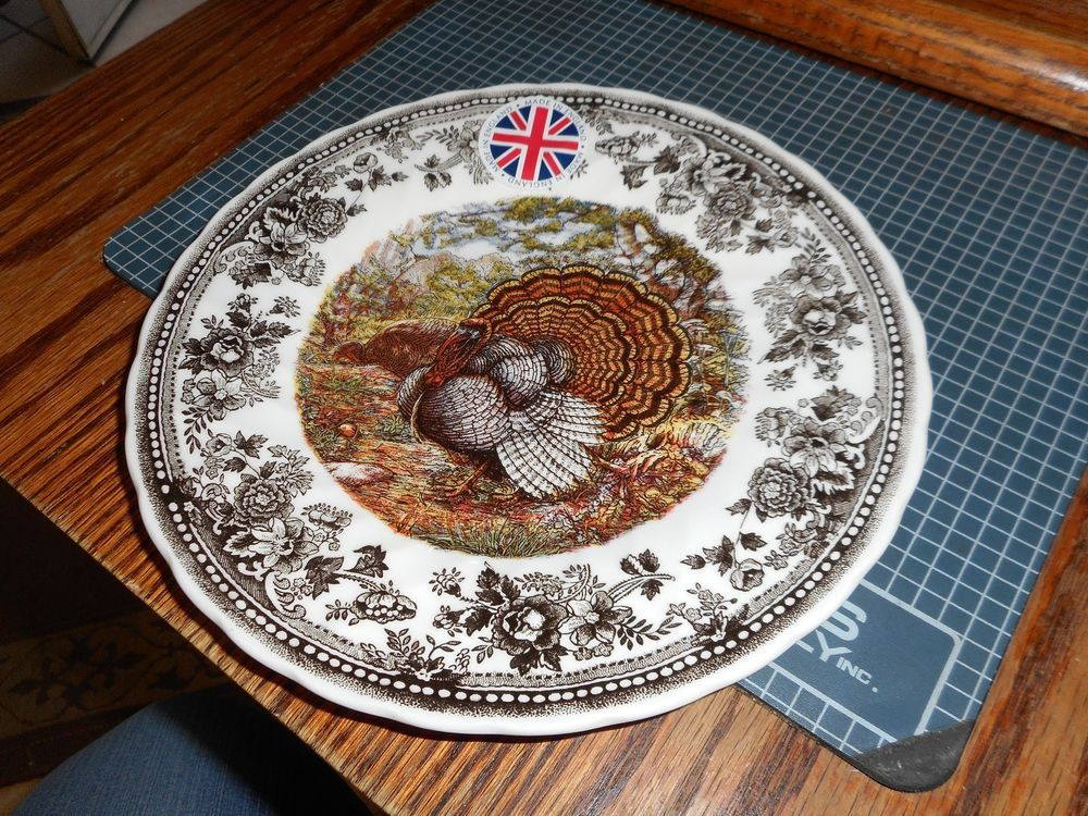 QUEEN\u0027S Quintessential Game Thanksgiving Turkey Salad Plate s Made in England #Queens & QUEEN\u0027S Quintessential Game Thanksgiving Turkey Salad Plate s Made ...