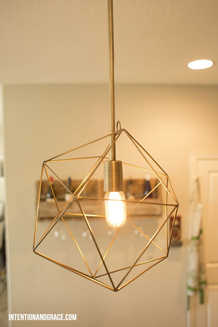 Diy Geo Or Geometric Metal Pendant Lighting For Our Kitchen Intentionandgrace Com