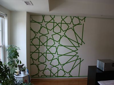 Earn Your Stripes Painters Tape Wall Design