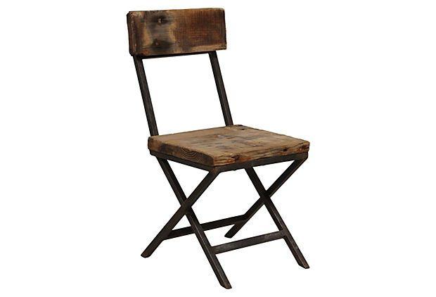 Colin Side Chair on OneKingsLane.com The reclaimed-pine ...