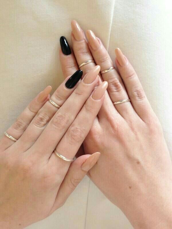 Black and nude | ||NAILS|| in 2019 | Pointed nails, Stiletto