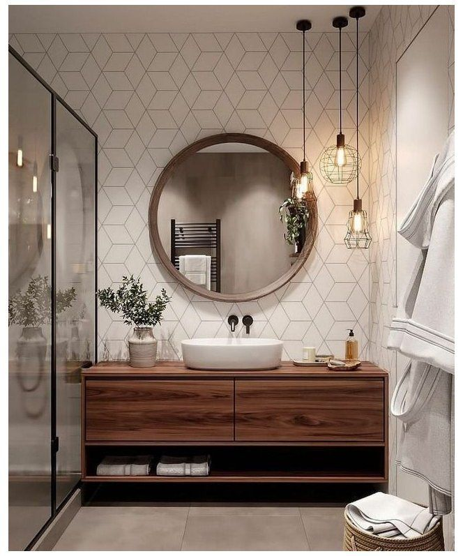Guest Bathroom Inspiration Ideas with Decor Photos [Montenegro Stone House Renovation Vision Board]