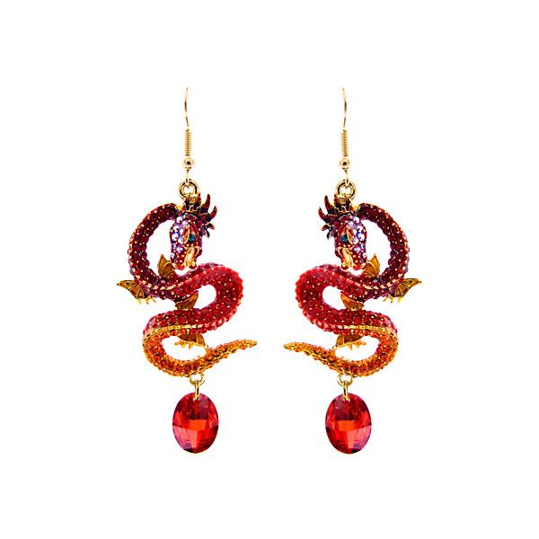 Lydia Courteille Jewellery New Sweet And Sour Collection: Crystal Dragon Drop Earrings (1 190 UAH) Liked On Polyvore