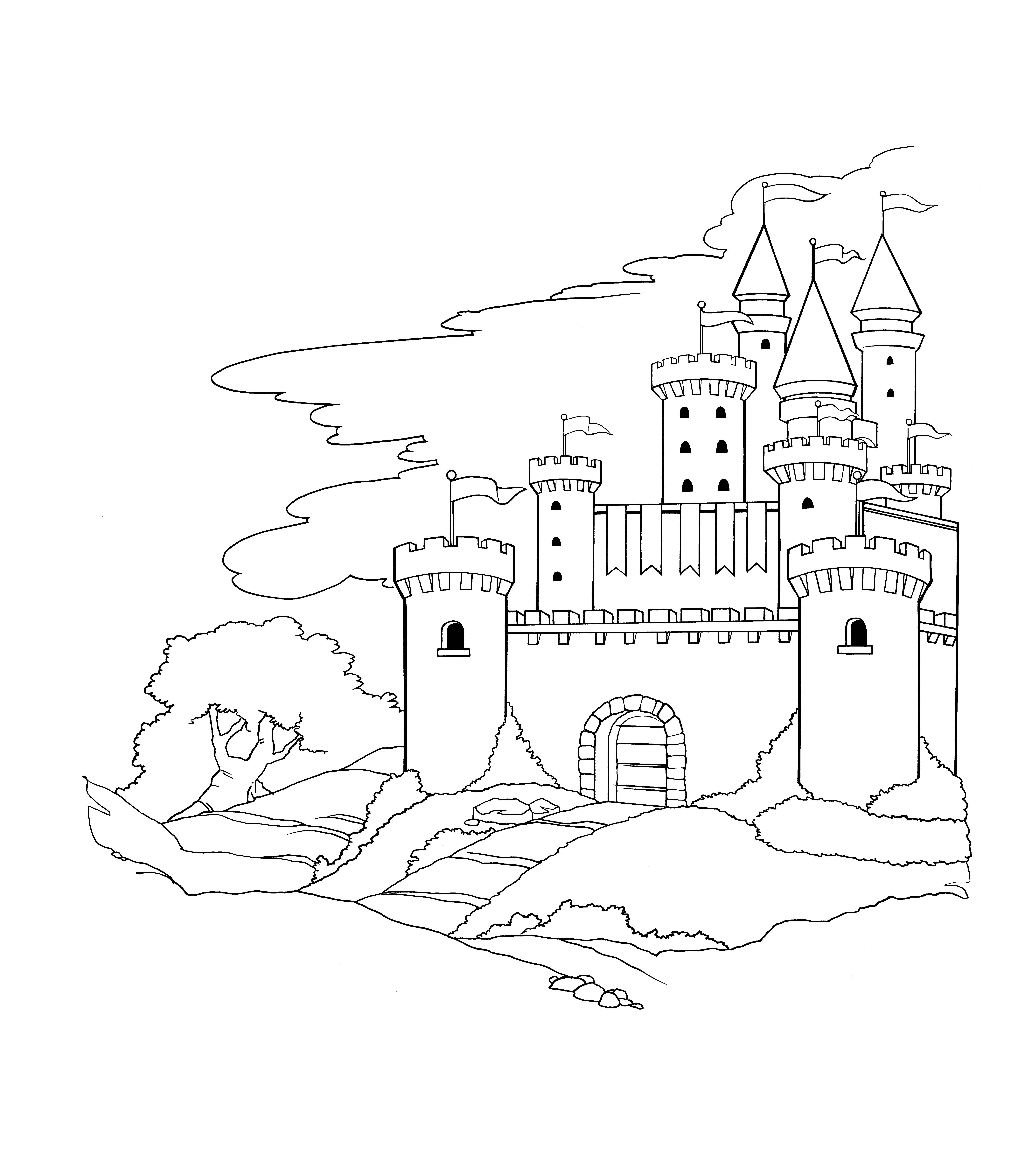 - Castle Coloring Page Castle Coloring Page, Coloring Pages