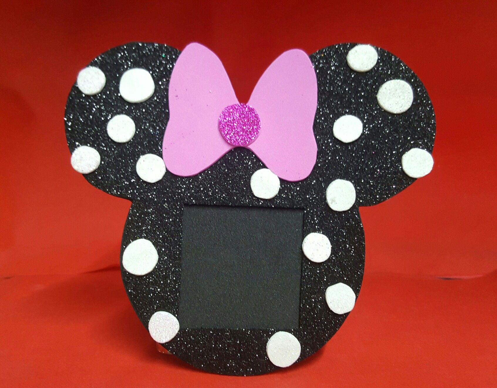 Porta retrato en foamy de Minnie Mouse. | Minie | Pinterest