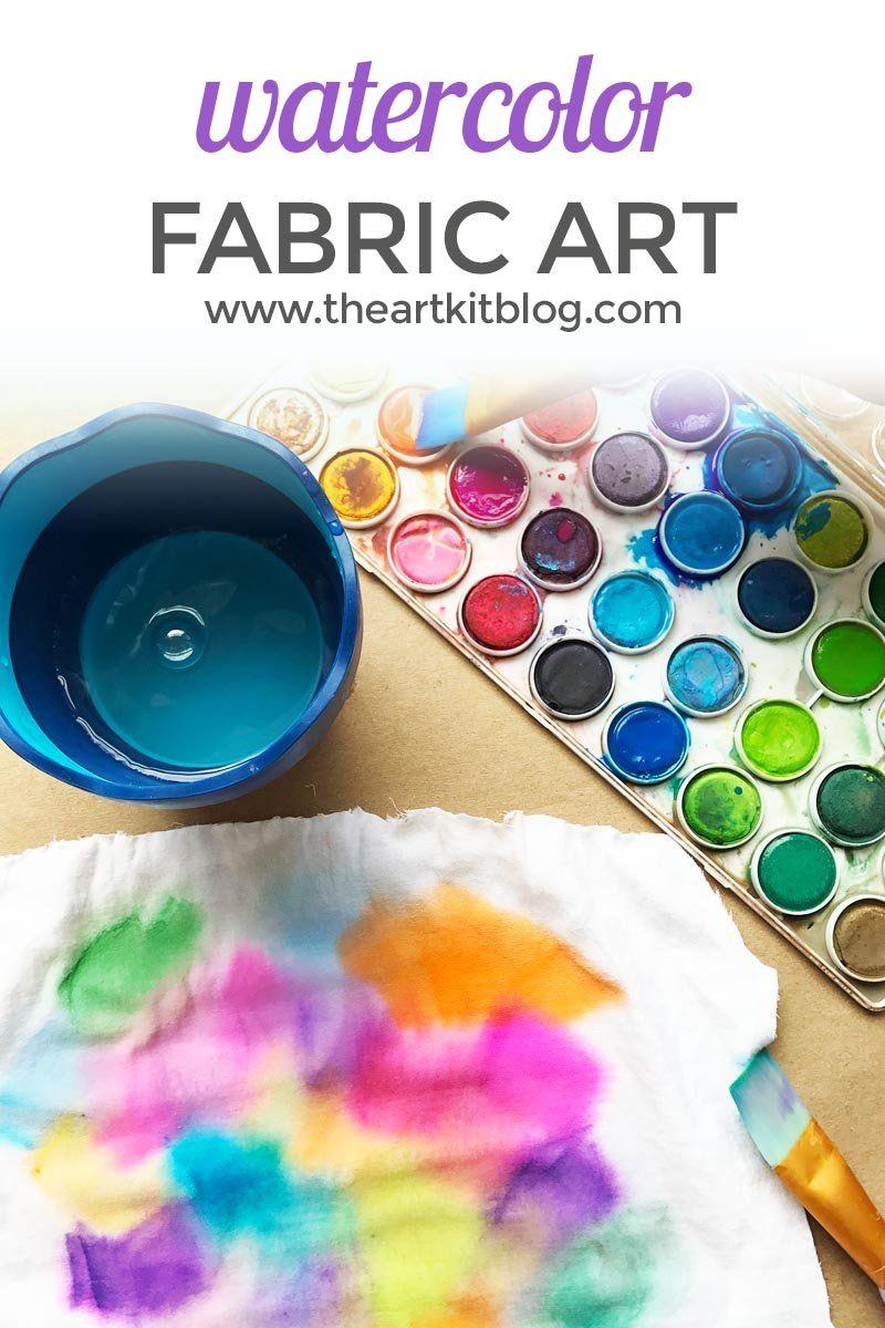 Watercolor Paint Fabric Art Watercolor Fabric Fabric Art