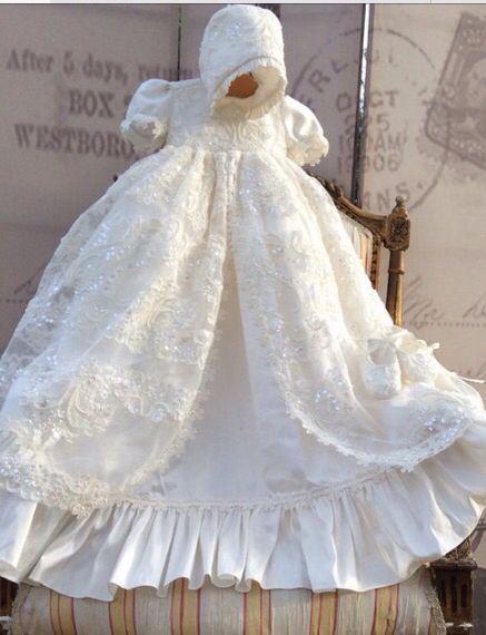 GIRL/'S DRESS FOR BAPTISM MADE in USA VESTIDO DE NIÑA O BEBE PARA BAUTIZO