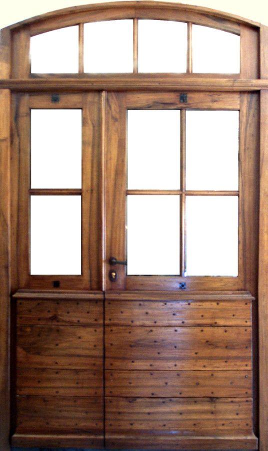 Entrée Provençale Carreaux Avec Imposte Portes Dentree Portes - Porte placard coulissante jumelé avec ouvrir une porte blindée
