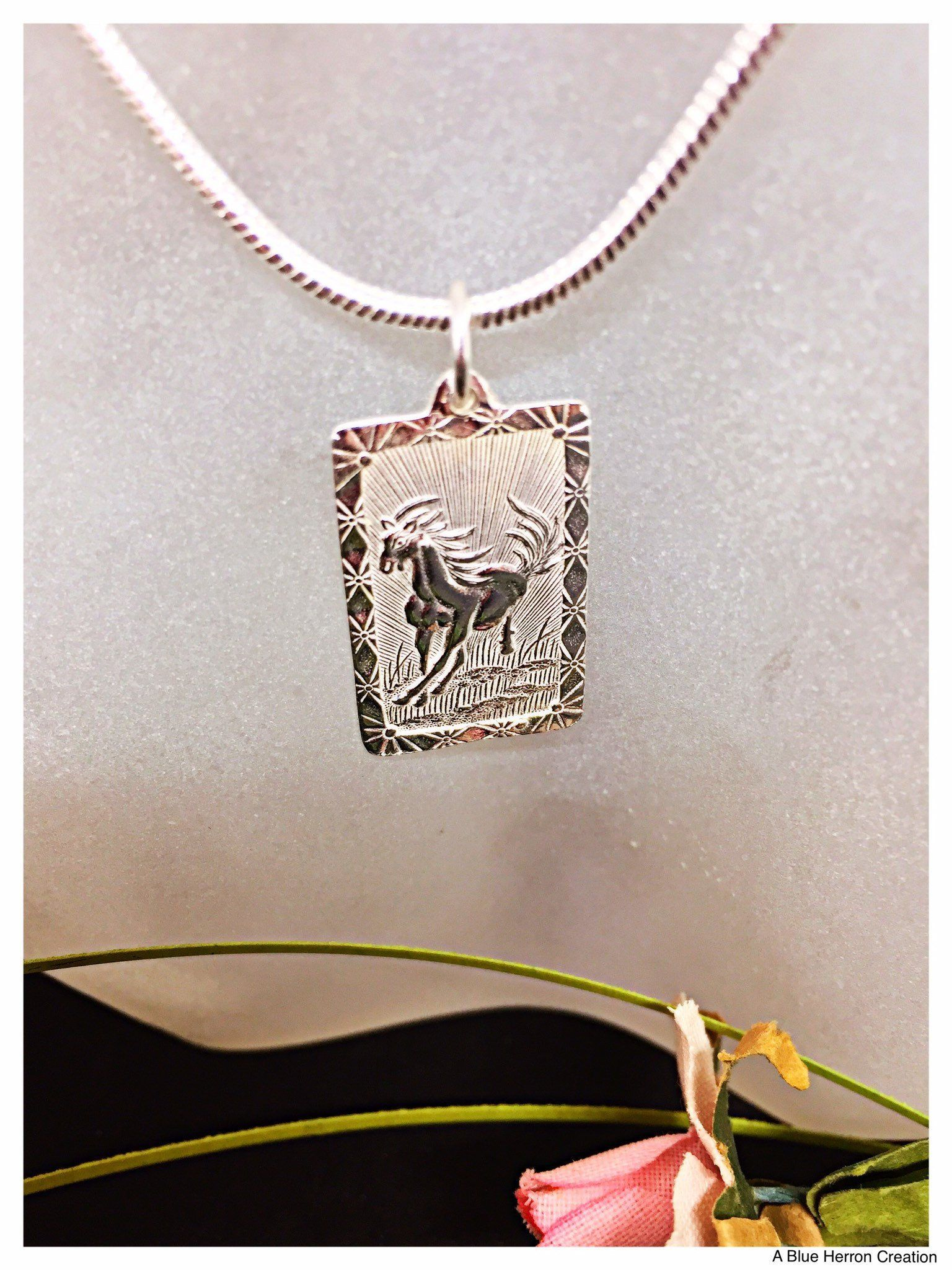 Jewel Tie 925 Sterling Silver Polished Horse Pendant Charm