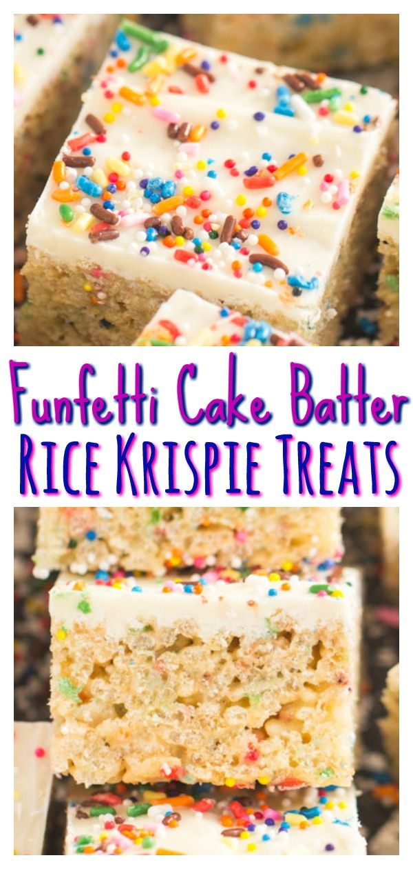 Funfetti Cake Batter Rice Krispie Treats