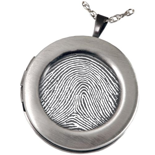 Jeweled lockets fingerprint memorial jewelry sterling silver a classic line of personalized memento jewelry that creates a photo pendant thumbprint necklace or a unique memorial jewelry keepsake mozeypictures Choice Image