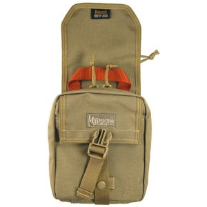 F.I.G.H.T. Medical Pouch: This is a MOLLE Compatible tear-away pouch so it can be pulled away from its MOLLE-compatible base--the idea being quick removal, especially if the casualty is wearing it.www.Maxpedition.com