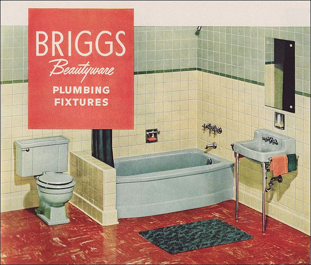 1951 Briggs Beautyware Bathroom By American Vintage Home