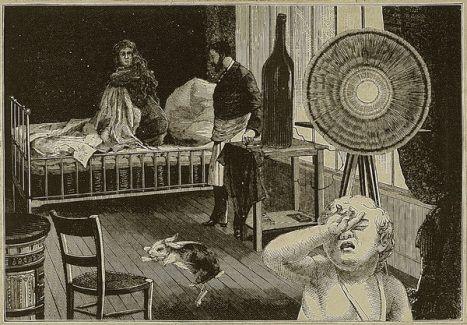 Max Ernst, L'immaculée conception manquée, from La Femme 100 têtes, [Chapitre I, planche 2, 1929, Dessin, Collage  Gravures découpées et collées sur papier collé sur carton, Centre Pompidou, Paris