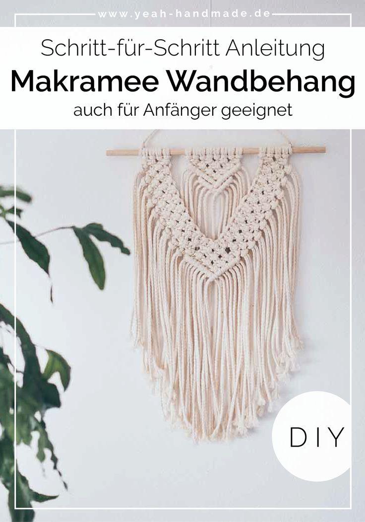 DIY Makramee Wandbehang selber machen • Yeah Handmade