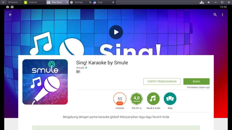 Cara Menjalankan Aplikasi Smule Di Pc Atau Laptop Karaoke Lagu Penyanyi