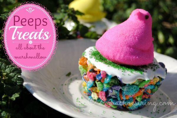 Peeps Marshmallow Treats for Easter #marshmallowtreats
